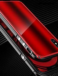 Недорогие -Кейс для Назначение Apple / iPhone X iPhone X Защита от удара Бампер Однотонный Твердый Металл для iPhone X