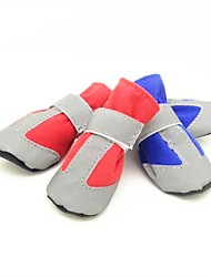 Dog Pet Shoes Dog Clothes Casual/Daily Keep Warm Solid Pink Blue Red Costume For Pets
