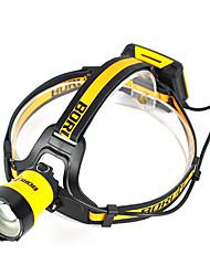 economico -Boruit® B16 Torce frontali LED 400 lm 3 Modo Cree XM-L L2 Professionale Regolabili Alta qualità Campeggio/Escursionismo/Speleologia Uso