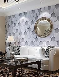 Geometrisk Trykt mønster Baggrund Til hjem Moderne Vægbeklædning , Ikke vævet tekstil Materiale Lim påkrævet tapet , Værelse Tapet