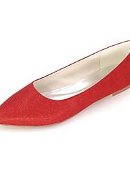 economico -Per donna Scarpe Brillantini Primavera / Estate Ballerina Ballerine Piatto Appuntite Argento / Rosso / Blu / Matrimonio / Serata e festa