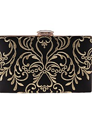 cheap -Women's Bags Polyester Evening Bag Embroidery for Wedding Event/Party All Seasons Black
