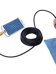 baratos -ouro 7mm lente 10m cabo 2 em 1 usb endoscopia câmera ip67 inspeção à prova de água borescope serpente cam para Windows android