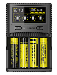 preiswerte -Nitecore SC4 Ladegerät Schnellladen / USB-Anschluss / LCD-Bildschirm für Li-Ionen / Lithium-Batterie / Nickel-Metall-Hydrid