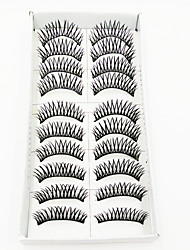 Недорогие -1 Ресницы Ресницы Ленточные накладные ресницы Ресницы Перекрещивающиеся реснички Объемные Машинное плетение Волокно Black Band 0.10mm