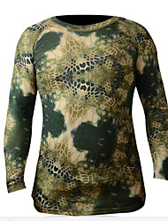 cheap -Cycling Jersey Men's Long Sleeves Bike Compression Clothing T-shirt Bike Wear Fast Dry Camouflage Gray+White Army Green Brown