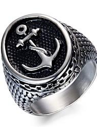 Недорогие -Муж. Кольцо , Серебряный нержавеющий анкер металлический Мода Повседневные На выход Бижутерия
