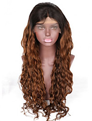 cheap -Women Human Hair Lace Wig Brazilian Human Hair Glueless Full Lace 130% Density Bob Haircut Layered Haircut With Baby Hair With Ponytail