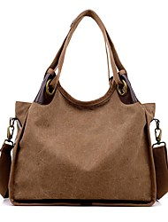 cheap -Women Bags Canvas Shoulder Bag Zipper for Event/Party Casual Winter Fall Blue Gray Coffee Wine