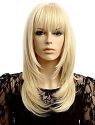 economico -Parrucche sintetiche Ondulato Biondo Capelli sintetici Attaccatura dei capelli naturale Biondo Parrucca Per donna Corto Senza tappo