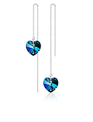 cheap -Women's Drop Earrings Crystal Elegant Sweet Crystal Alloy Heart Jewelry Royal Blue Daily Ceremony Costume Jewelry