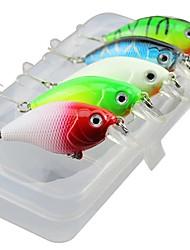 Недорогие -5 шт. Minnow г / унция мм дюйм, пластиковая рыбалка рыбалка приманка литье спиннинг отжим рыбалка пресноводная рыбалка другое
