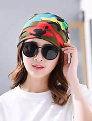 cheap -Women's Cotton Floppy Hat,Casual Print Spring, Fall, Winter, Summer Printing Blushing Pink Red