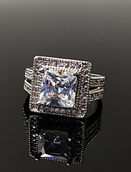 economico -Per donna Fedine Zircone cubico Strass Vintage Elegant Argento sterling Zircone cubico Gioielli Per Matrimonio Fidanzamento Cerimonia