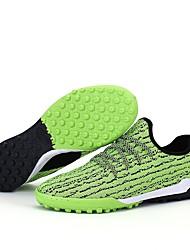 Masculino sapatos Tricô Courino Couro Ecológico Inverno Verão Solados com Luzes Tênis Futebol Para Atlético Preto Cinzento Verde