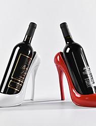 Haut talon chaussure porte-bouteille de vin casier à vin pratique sculpture décoration de la maison accessoires couleur aléatoire