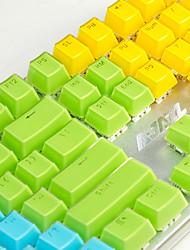 cheap -AJ Crystal Mechanical Keyboard Key Cap 104 All-Key Two-Color Transparent Color Key Hat Polychromatic Optional