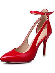preiswerte -Damen Schuhe PU Frühling / Herbst Komfort / Neuheit High Heels Spitze Zehe Schnalle Silber / Rot / Rosa / Hochzeit / Party & Festivität