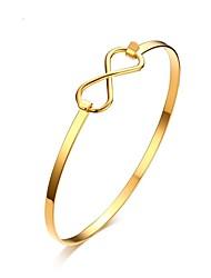 abordables -Femme Dorage 18K Bracelets Rigides - Rétro Elégant Or Bracelet Pour Mariage Fiançailles Quotidien