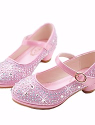 Pink flower girl shoes lightinthebox girls shoes microfiber spring fall flower girl shoes tiny heels for teens heels for gold silver pink mightylinksfo