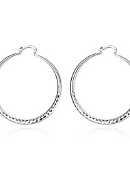 cheap -Women's Hoop Earrings - Silver Plated Vintage, Sweet, Fashion Silver For Daily / Evening Party