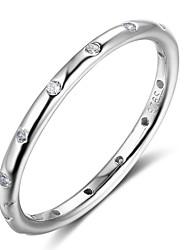 cheap -Women's Band Ring Korean Silver Geometric Costume Jewelry Gift