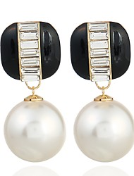 economico -Per donna Orecchini a cerchio Dolce Di tendenza Perle finte Lega Palla Gioielli Per Evento Appuntamento