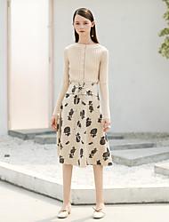 preiswerte -Damen Retro Arbeit Rock & Kleid Röcke - Blumen