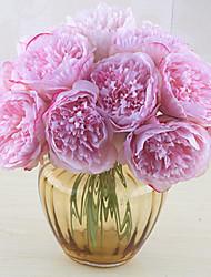 5 ブランチ シルク ボタン テーブルトップフラワー 人工花