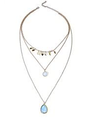 Women's Layered Necklaces Multi-stone Gemstone Alloy Metallic Simple Sexy Lovely European Rock Jewelry For Party Business / Ceremony /
