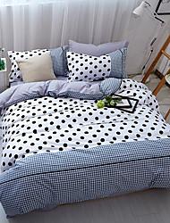 preiswerte -Bettbezug-Sets Solide 4 Stück Polyester / Baumwolle Reaktivdruck Polyester / Baumwolle 4-teilig (1 Bettbezug, 1 Bettlaken, 2