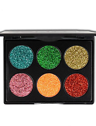 cheap -6 Colour Glitter Eye Shadow Makeup Gold Onion Powder Sequined Eyeshadow Cosmetics