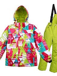 Garçon Fille Veste & Pantalons de Ski Chaud Ventilation Pare-vent Vestimentaire étanche Ski Multisport Sports d'hiver Après Ski Polyester