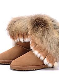 economico -Da donna Scarpe Di pelle Inverno Stivali da neve Fodera di lanugine Stivaletti Ballerina Punta tonda Punta chiusa Stivali metà polpaccio