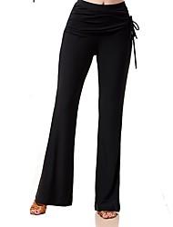 Baile de Salón Pantalones y Faldas Mujer Actuación Seda Sintética Ceñido Cintura Alta Pantalones