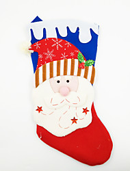 cheap -Large Non-Woven Fabric Christmas Stocking Christmas Ornament Santa Claus