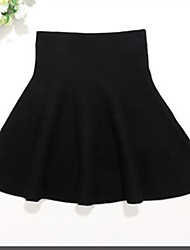cheap -Girls' Solid Skirt, Cotton Winter Spring Cute Active Black Red