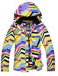 abordables -Femme Veste de Ski Chaud, Etanche, Pare-vent Ski / Randonnée / Ski de fond Cuir PU Veste d'Hiver Tenue de Ski