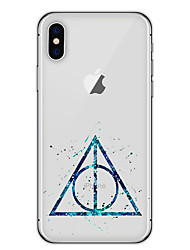 economico -Per iPhone X iPhone 8 Custodie cover Ultra sottile Fantasia/disegno Custodia posteriore Custodia Geometrica Morbido TPU per Apple iPhone