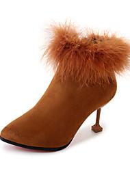 Women's Shoes PU Summer Slingback Sandals Wedge Heel Round Toe Buckle For Dress Black Camel Dark Brown