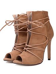 Feminino Sapatos Camurça Todas as Estações Conforto Inovador Botas da Moda Botas Peep Toe Botas Curtas / Ankle Para Casamento Festas &