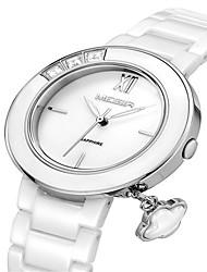 baratos -MEGIR Mulheres Relógio de Pulso Cerâmica Banda Casual / Fashion / Elegante