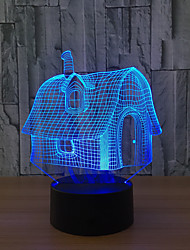 cheap -LED 3D Stereo Visual Creative Dream Light Romantic Night Light (USB or 3*AAA Battery Powered NO Battery