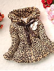 billige -Pige dun- og bomuldsforet Leopard, Bomuld Langærmet Kakifarvet
