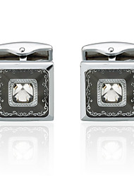 cheap -Black Cufflinks Zinc Alloy Costume Jewelry Men's Costume Jewelry For Party / Evening / Ceremony