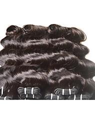 Недорогие -Натуральные волосы Реми Бразильские волосы Человека ткет Волосы Наращивание волос Черный