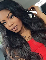 cheap -Remy Human Hair Lace Front Wig Chinese Hair Body Wave With Baby Hair 130% Density 100% Virgin African American Wig Natural Hairline