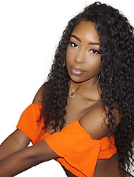 cheap -Remy Human Hair Lace Front Wig Chinese Hair Kinky Curly With Baby Hair 130% Density 100% Virgin African American Wig Natural Hairline