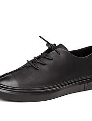 メンズ 靴 合成マイクロファイバーPU 春 秋 コンフォートシューズ ライト付きソール スニーカー 用途 カジュアル ブラック