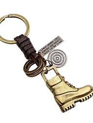 Недорогие -Брелок Бижутерия Золотой Круглый Кожа Сплав На каждый день Мода На выход Муж.